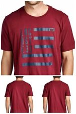Lacoste Mens Short Sleeve Cotton Crew Neck Printed Graphic Logo T-shirt Burgundy