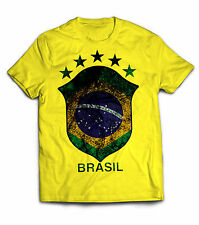 Men's Brasil Brazil Big logo 2015 2016 tee t-shirt jersey football soccer camisa