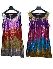 Girls/Kids Beautiful Multi-Coloured Sequin Party Dress Age 3-12 Years