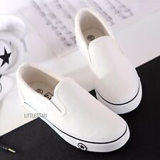 Women's Platform Canvas Low Top Shoes British Plimsoll Sneaker Pump Skate White