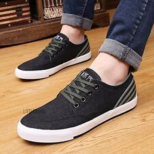 Men Canvas Plimsoll Shoes Pump Lace Up Casual Sneaker Skate Antique Line Fashion