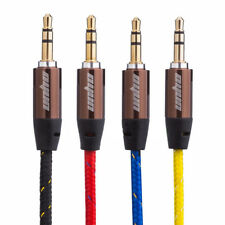 3.5mm Premium Gold Plated Aux Audio Cable Cord for iPhone iPod Headphones Car PC