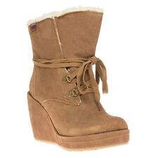 New Womens Rocket Dog Tan Brown Barney Suede Boots Ankle Lace Up