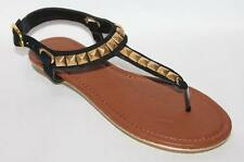 THERAPY Designer Black Gold Diamond Sandals Shoes Size 6 BNWT