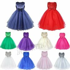 Baby Girls Princess Wedding Pageant Formal Dress Christmas Party Dress Size 2-12