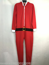 TOPMAN MENS CHRISTMAS SANTA ONESIE ALL IN ONE SUIT SIZE XS_S_M_L_XL
