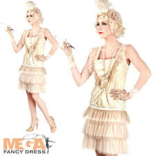Charleston Ladies Fancy Dress Flapper Gatsby 20s 1920s Adult Womens Costume New