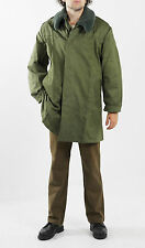 GENUINE ARMY - PARKA - JACKET - COAT- FUR COLLAR - QUILTED INNER LINER - GREEN
