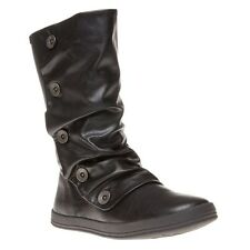 New Womens Blowfish Black Cammish Synthetic Boots Knee-High Zip