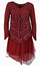 Pretty Angel Clothing ARIANNA TWO PIECE DRESS IN BURGUNDY S M L XL 10862
