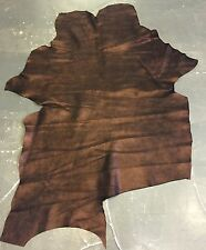 Coppery Genuine Spanish Calf Suede Full Leather Hides with Rustic Finished FS853