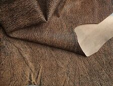 Brown Genuine Lambskin Spanish Full Leather Hide in Shadowy Rustic Finish FS875
