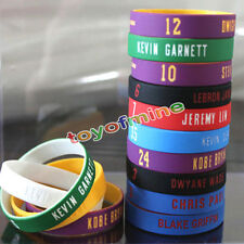 2 PCS Silicone Rubber Wristband Basketball Stars Rubber Bracelet baller band