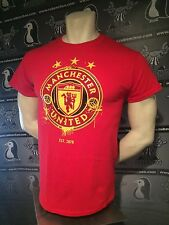Manchester United England Red Devils 2017 Red Crest Tee Shirt NEW S M L XL 2XL