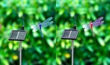 Solar Powered Outdoor Garden Patio Fluttering Dragonfly Lighting Lights New