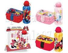 Kids Disney School Picnic Travel Lunch Sandwich Box Aluminium Drinks Bottle Gift