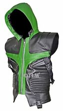 Green Hawkeye Vest The Avengers Jeremy , FAUX Leather Jacket , <Fast Shipping>