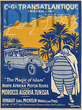 REPRO DECO AFFICHE THE MAGIC OF ISLAM MOROCCO ALGERIA SUR PANNEAU MURAL BOIS HDF