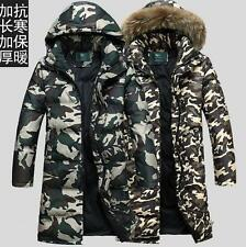 Mens Duck Down Long camo Snow Warm Outdoor hooded Coat Winter jacket parka new
