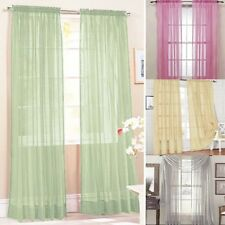 19 Colors Solid Sheer Drapes Scarfs Panel Curtain Door Room Voile Window Curtain