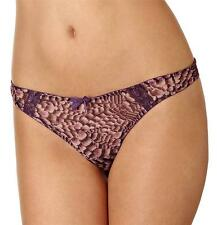 New Panache Cleo Sasha Womens Thong Plum Multi RRP £14 Free UK P&P 6499
