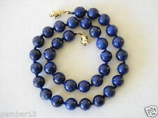 Blue Lapis Lazuli Necklace 10mm Lapis Beads Hand Knotted Various Lengths
