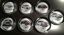 BENTLEY MOTORS 90mm GLASS PAPERWEIGHTS:BLOWER BENTLEY, CONTINENTAL GT, + MORE