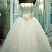 White Ivory Wedding Dress Bridal Gown Custom Size 2/4/6/8/10/12/14/16/18/20/22++