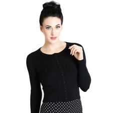 Hell Bunny Paloma Black Cardigan Pin Up Retro Rockabilly Vintage