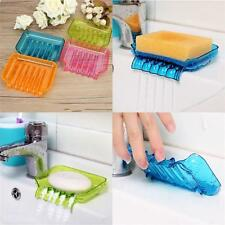 Candy Color Suction Draining Cup Holder Bathroom Shower Soap Dish Tray Storage