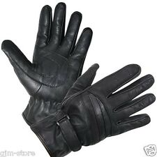 Xelement XG-797 Black All-Weather Premium Leather Motorcycle Gloves soft liner!
