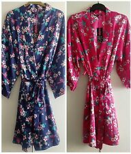 Ladies Satin Dressing Gown/Robe Uk Sizes 10/12, 14/16, 18/20