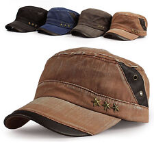 New Men's Cadet Military Hat/Cap Trucker Hat Visor Unisex Brown Beige Black