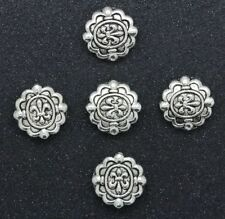 LOT Fashion exquisite two-sided Tibet Silver Interval Charms Beads Spacer 11mm