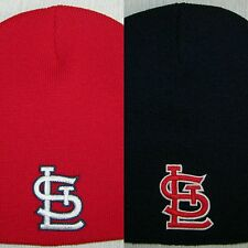 St. Louis Cardinals Beanie ~SKULL CAP ~HAT ~MLB PATCH/LOGO ~NAVY OR RED ~NEW