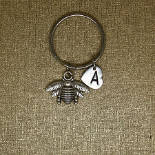 BEE keychain, Honey Bee, insects keychain, initial keychain, insects keychain