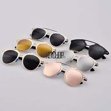 Fashion Eyewear Retro Sunglasses Dual Horizontal Beam Women Full Frame Stylish