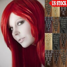 70g 80g 90g Clip In Remy Human Hair Extensions Full Head CLEARANCE US Seller C54
