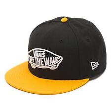 Vans Off The Wall Home Team NE New Era 59 Fifty Fitted Hat Ball Cap Yellow NWT