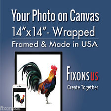 """Custom Gallery Wrapped Canvas, Your Photo on Canvas Print - 14""""x14"""""""