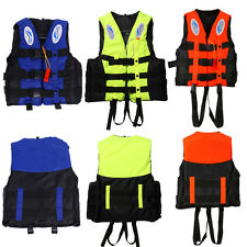 Universal Polyester Adult Life Jacket Swimming Boating Ski Vest with Whistle