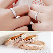 Wedding Celebrity Screw Carved Love Titanium Stainless Steel Rings Jewelry Gift