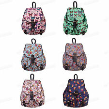 Owl Shape Girls Backpack Travel Rucksack Canvas Backpacks Shoulder Bag UK