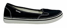 Crocs Womens Hover Canvas Slip On Black Oyster