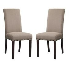 Dining Chair Set Upholstered Kitchen Table 2 Seats Home Furniture Room Cushions