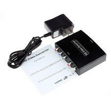 Component Video YPbPr 3 RCA + Stereo Audio to HDMI Converter 1080p for DVD PS3