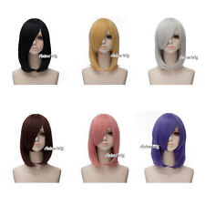 45cm Wavy Heat Resistant Medium Basic Lolita Anime Cosplay Wig With Cap 8 Colors
