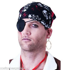 Fancy Dress Up Costume Accessories SW Pirate Satin Eyepatch & Earring