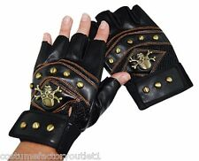 Fancy Dress Costume Accessories SW 80's Punk Gloves, Studded, Fingerless