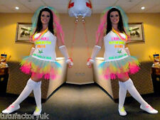NEON BRIDE TUTU SET - DOUBLE LAYER FOR COVERAGE HEN NIGHT BRIDE TO BE 80S PARTY